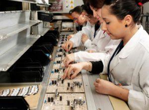 Manual assembly line - electronics