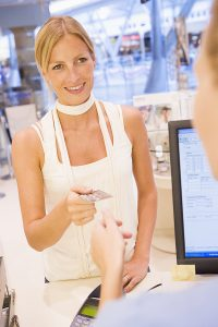 Customer paying at point of sale (POS)